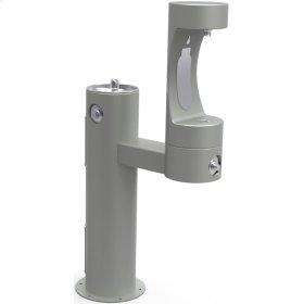 Elkay Outdoor ezH2O Bottle Filling Station Bi-Level Pedestal, Non-Filtered Non-Refrigerated Freeze Resistant Gray