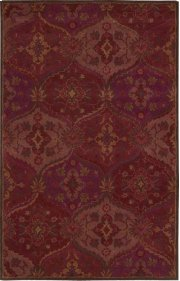 """INDIA HOUSE IH88 RED RECTANGLE RUG Available in Sizes: 2'.3""""X 7'.6"""",  2'.6""""X 4'.0"""",  3'.6""""X 5'.6"""",  5'.0""""X 8'.0"""",  8'.0""""X 10'.6"""" Product Image"""