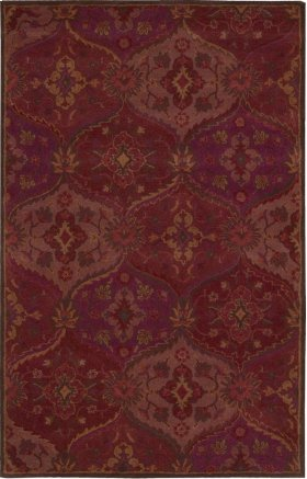 """INDIA HOUSE IH88 RED RECTANGLE RUG Available in Sizes: 2'.3""""X 7'.6"""",  2'.6""""X 4'.0"""",  3'.6""""X 5'.6"""",  5'.0""""X 8'.0"""",  8'.0""""X 10'.6"""""""