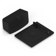 Black- Go from spinning to streaming with these essentials. Includes Sonos Play:5, Pro-Ject Essential III Phono, and adapter cable.