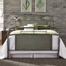 King Metal Bed - Green
