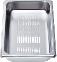 "Perforated cooking pan - half size, 1 5/8"" deep"