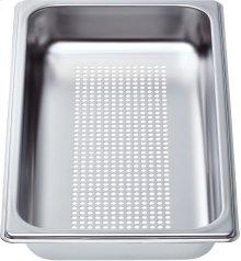"Perforated cooking pan - half size, 1 5/8"" deep"
