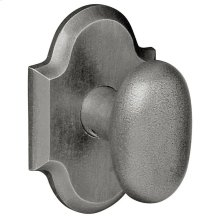 Distressed Antique Nickel 5024 Oval Knob
