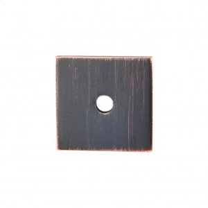 Square Backplate 1 Inch - Tuscan Bronze