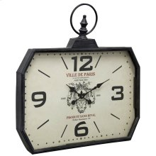 Metal & Glass Wall Clock  29in X 28in X 3in