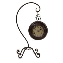 Hanging Clock on Curved Stand