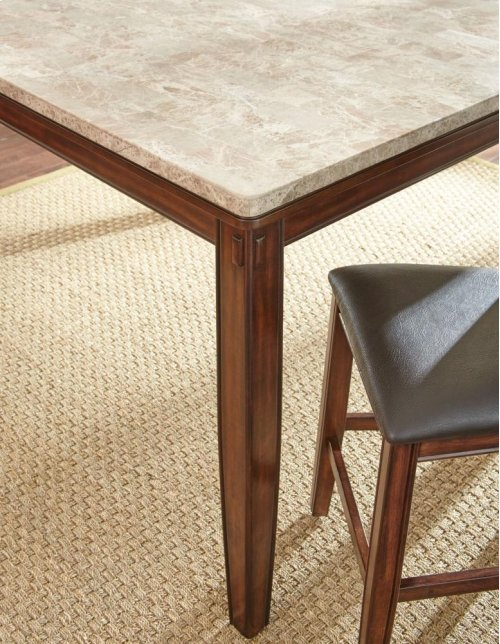 "Eileen Marble Top Counter Table 54"" x 54 "" x 36"""