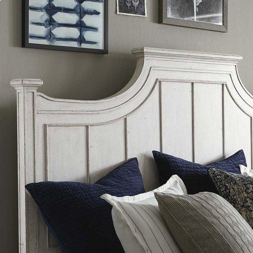 King/Aged Whitestone Bella Panel Bed