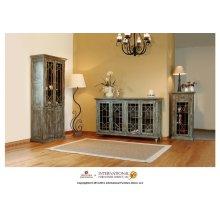 Cabinet w/4 doors-Turquoise Finish