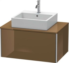 Vanity Unit For Console Wall-mounted, Olive Brown High Gloss Lacquer