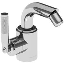 Chrome Plate Single lever bidet mixer with pop-up waste, left handed
