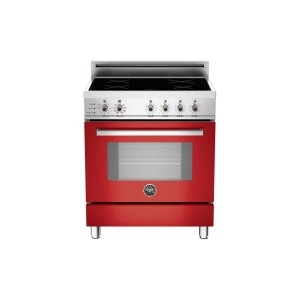 30 4-Induction Zones, Electric Self-Clean oven Red - Red