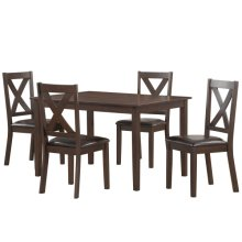 Traditional Style Dark Brown Dining Set