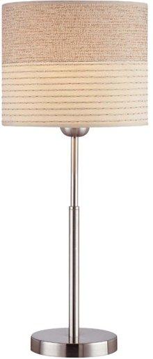 Mini Table Lamp, Ps W/2-tone Textured Shade, E27 Cfl 13w