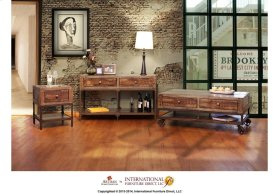 Cocktail Table w/4 Drawers & Wheels - KD System **