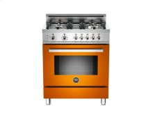 Orange 30 4-Burner, Electric Self Clean Oven