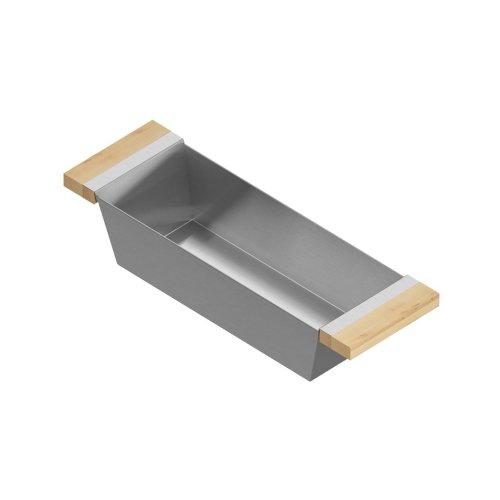 Bin 205328 - Stainless steel sink accessory , Maple