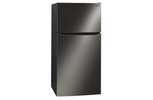 "LG Black Stainless Steel 24 cu. ft Large Capacity 33"" Wide Top Freezer Refrigerator"