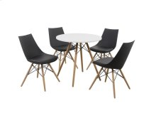 "Annette - 5 Piece Dining Set 40"" Black Table"