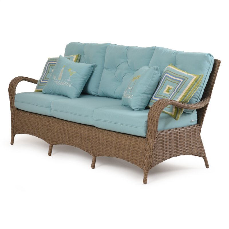 Hidden · Additional Outdoor Sofa Oyster Grey 6003 - GARD6003OG In By Palm Springs Rattan In Gainesville, FL - Outdoor