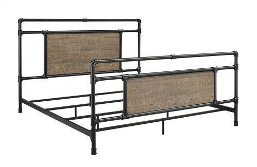 Elkton Bed - King, Matte Black Finish