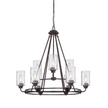 9 Light Chandelier in Old English Bronze