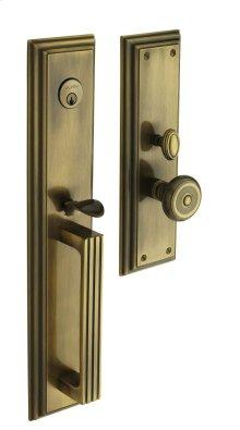 Satin Brass and Black Tremont Entrance Trim