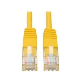 Cat5e 350MHz Molded Patch Cable (RJ45 M/M) - Yellow, 7-ft.