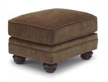 Bexley Two-Tone Fabric Ottoman