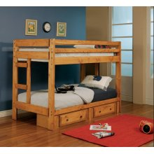 Wrangle Hill Amber Wash Twin-over-twin Bunk Bed