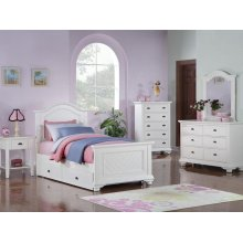 BP777CHW Brook Youth White Chest