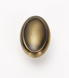 Classic Traditional Oval Knob A1560 - Antique English Matte