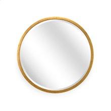 Large Round Mirror - Gold