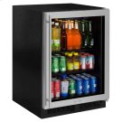 "24"" Beverage Center - Stainless Frame Glass Door - Left Hinge Product Image"