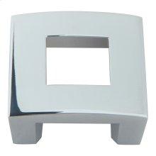 Centinel Square Knob 1 1/4 Inch (c-c) - Polished Chrome