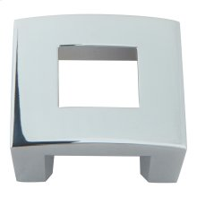 Centinel Square Knob 1 1/4 Inch (c-c) - Polished Chrome