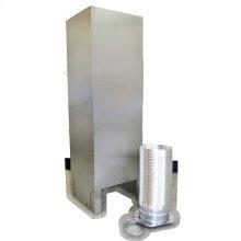 Island Hood Chimney Extension Kit (10-12ft) for vented hoods, Stainless Steel