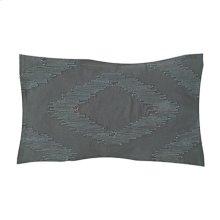 """Cadence Tonal Diamond Lumbar Pillow (21"""" x 13"""") - Graphite"""