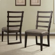 Precision - Upholstered Ladderback Side Chair - Umber Finish