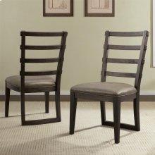 Precision - Upholstered Ladderback Side Chair - Umber Finish