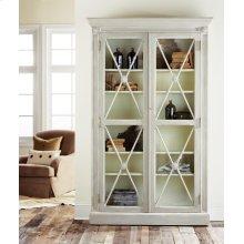 Swedish Two Door Bookcase, Painted Antique Grey