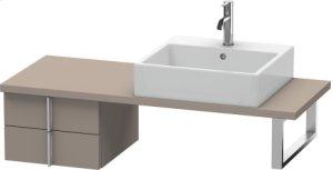 Vero Low Cabinet For Console Compact, Basalt Matt (decor)