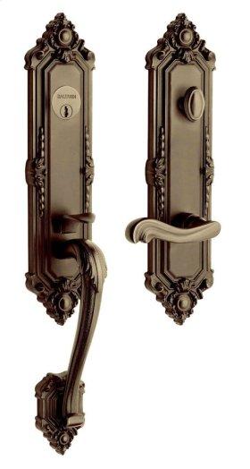 Satin Brass and Black Kensington Handleset