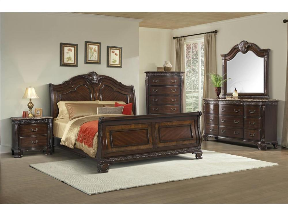 Elements Furniture ST650 Southern Belle Sleigh Bedroom Set Houston Texas  USA Aztec Furniture