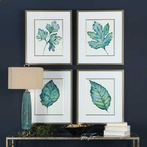 Spring Leaves Framed Prints, S/4