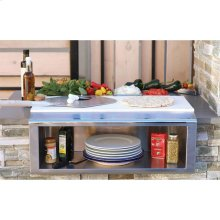 "30"" PLATE & GARNISH RAIL W/ FOOD PANS"