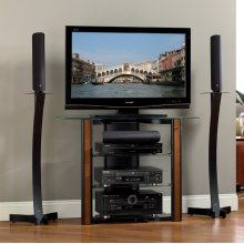 AVSC2123 Contemporary Tall Design A/V System for most TVs up to 40 inches from Bell'O International Corp.