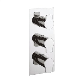 Wisp 2000 Thermo Valve Trim (2 Outlets) - Polished Chrome