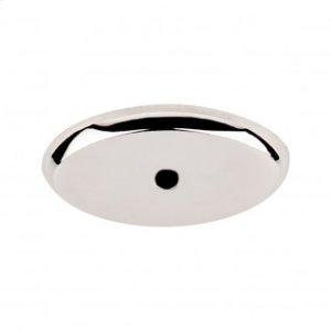Aspen II Oval Backplate 1 3/4 Inch - Polished Nickel